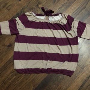 Striped knit shirt
